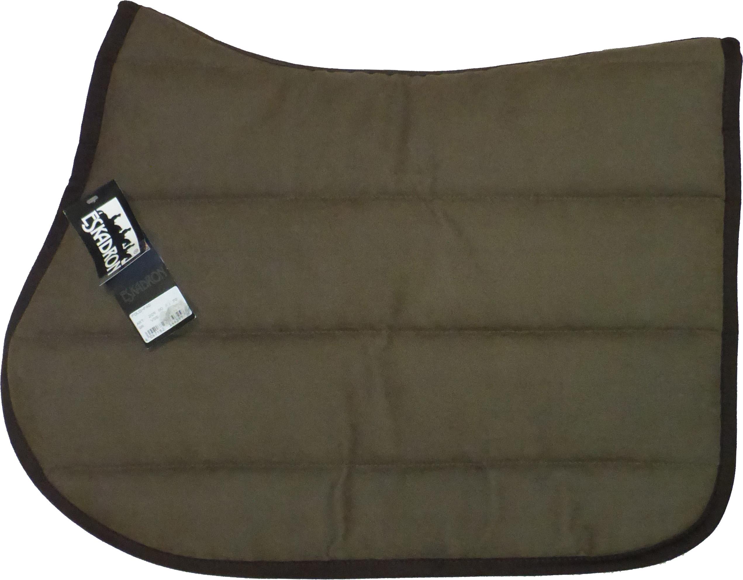 Eskadron Sattelpad mit Rückenform in schoko, Polo Pad Größe VS