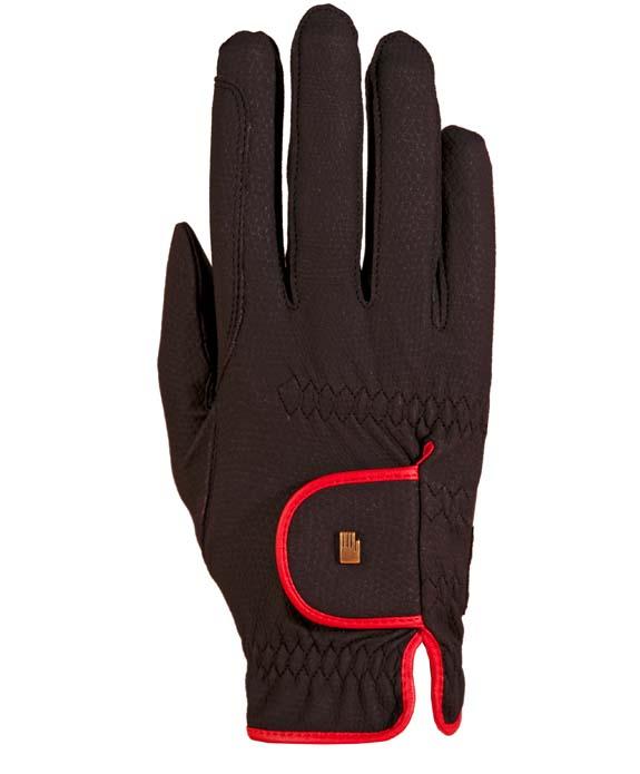 Roeckl Handschuh Lona (Light & Grip) Farbe schwarz-rot-Neu