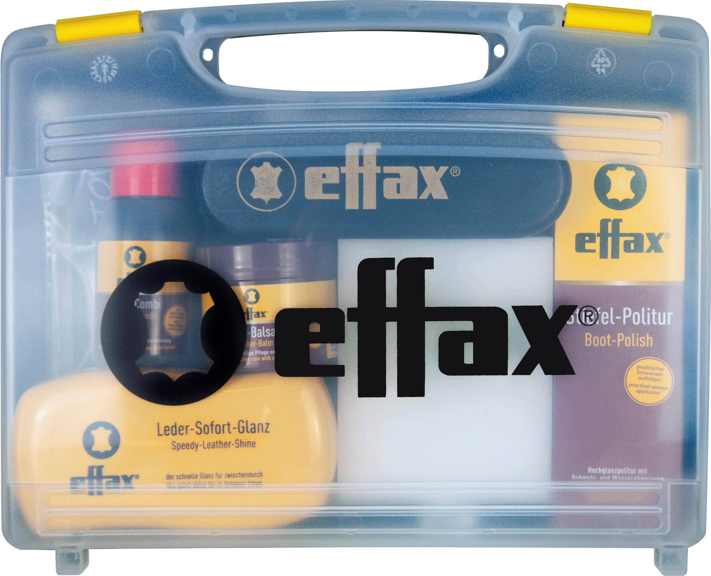 Effax Leder-Pflege-Koffer Stiefelpolitur, Lederbalsam, Ledercombi