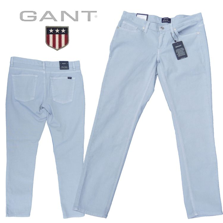 Gant - Jeans Audrey cropped classic canvas pant (7/8 lang) in ice blue 410475