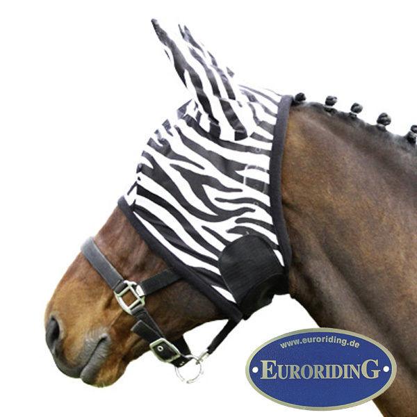 Euroriding Fliegenmaske Zebra, Fliegenhaube in 4 Größen (19295) NEU