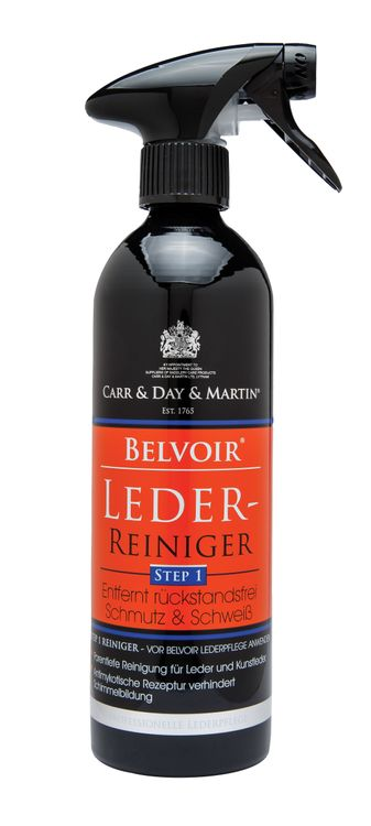 Carr & Day & Martin Belvoir Tack Cleaner, Step 1 Lederreiniger 500ml Spray Glanz