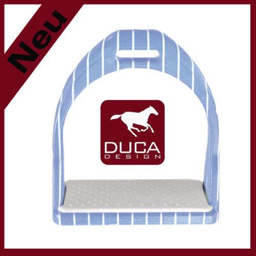 "DUCA Design ""Elegance"" Steigbügel hellblau, weiß"