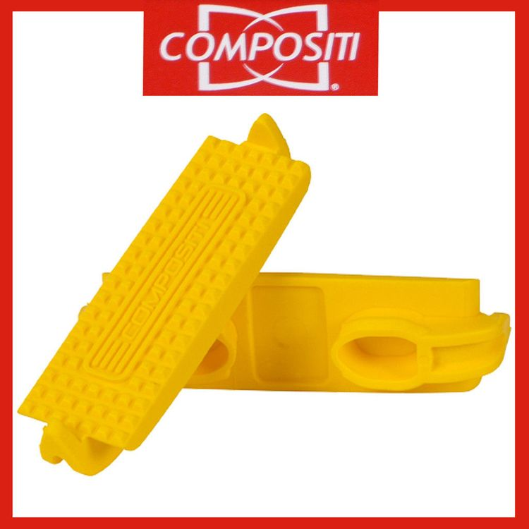 COMPOSITI Kunststoff-Steigbügel-Einlagen in gelb Gr. Pony