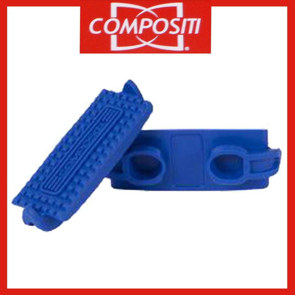 COMPOSITI Kunststoff-Steigbügel-Einlagen in blau Gr. Pony