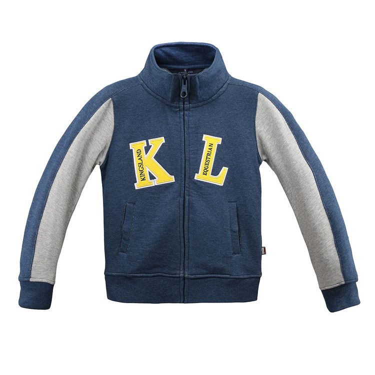 Kingsland Junior Sweat Jacke DATTA in front blue oder front pink Gr. 110-164