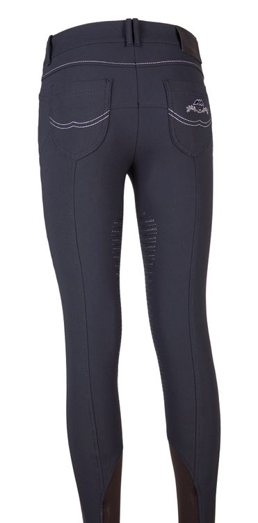 Equiline Damen Reithose Knie Grip Nina in blue Sommer 2017