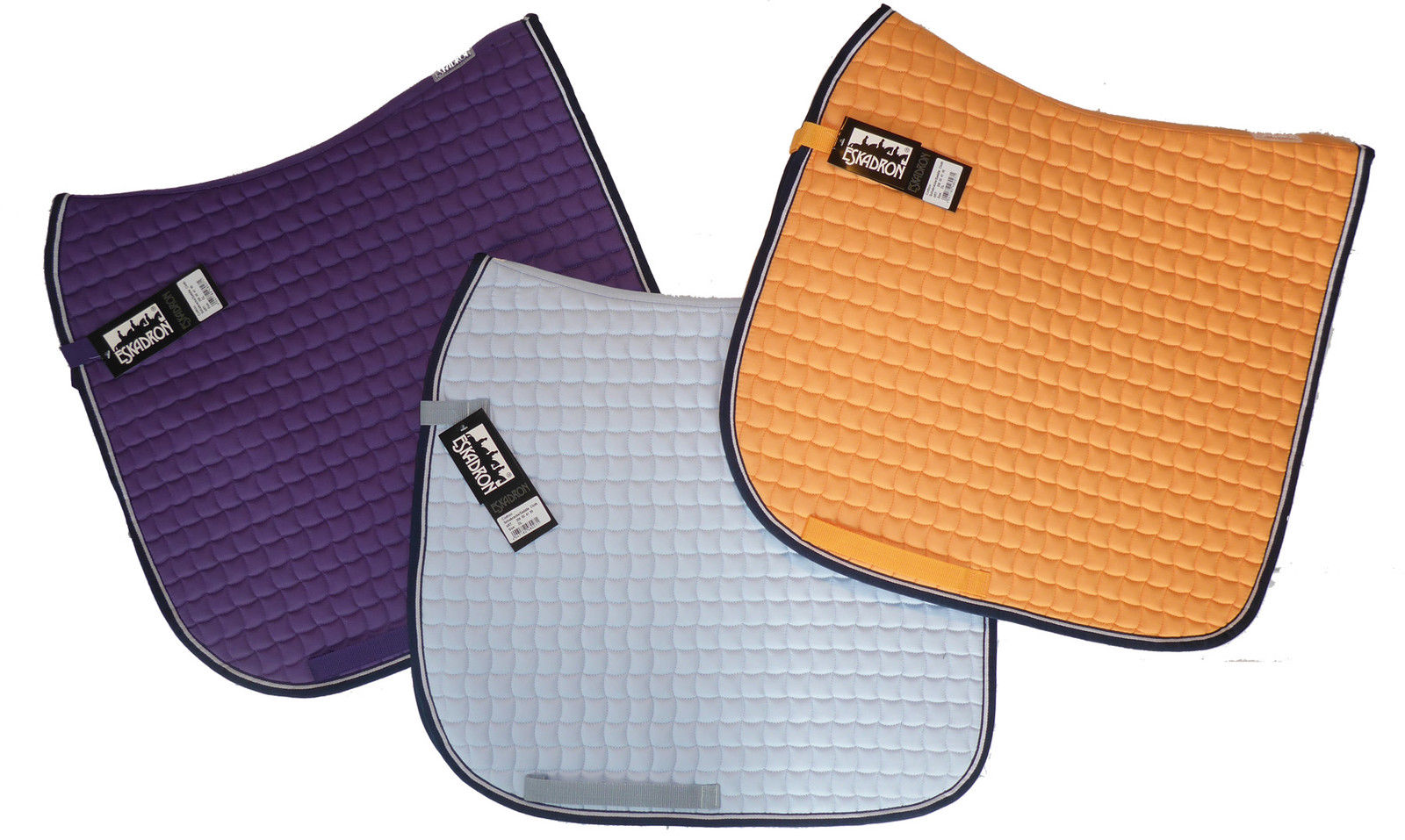 ESKADRON Schabracke Cotton in light mango, light blue oder lilac, Dressur & VSS