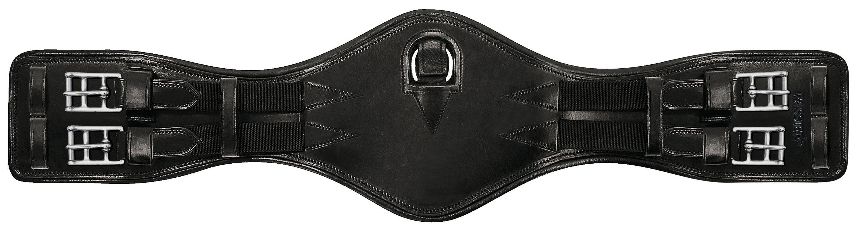 Passier anatomisch geformter Leder Sattelgurt, kurze Form, Farbe schwarz