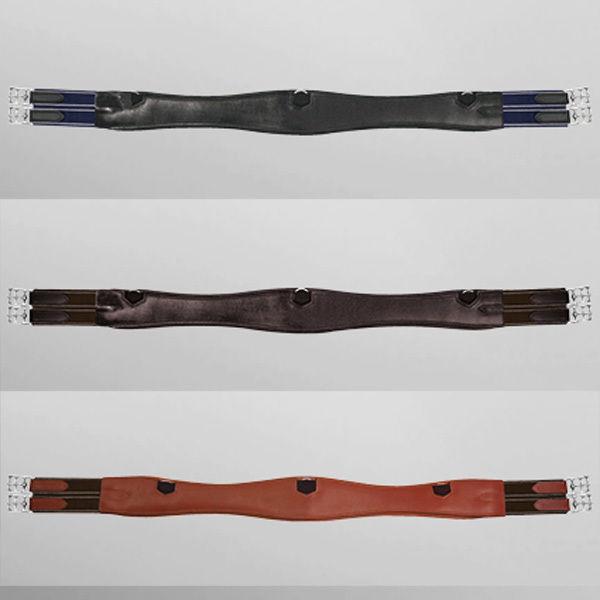 Passier geschweifter Leder Sattelgurt lange Form schwarz, havanna oder teak
