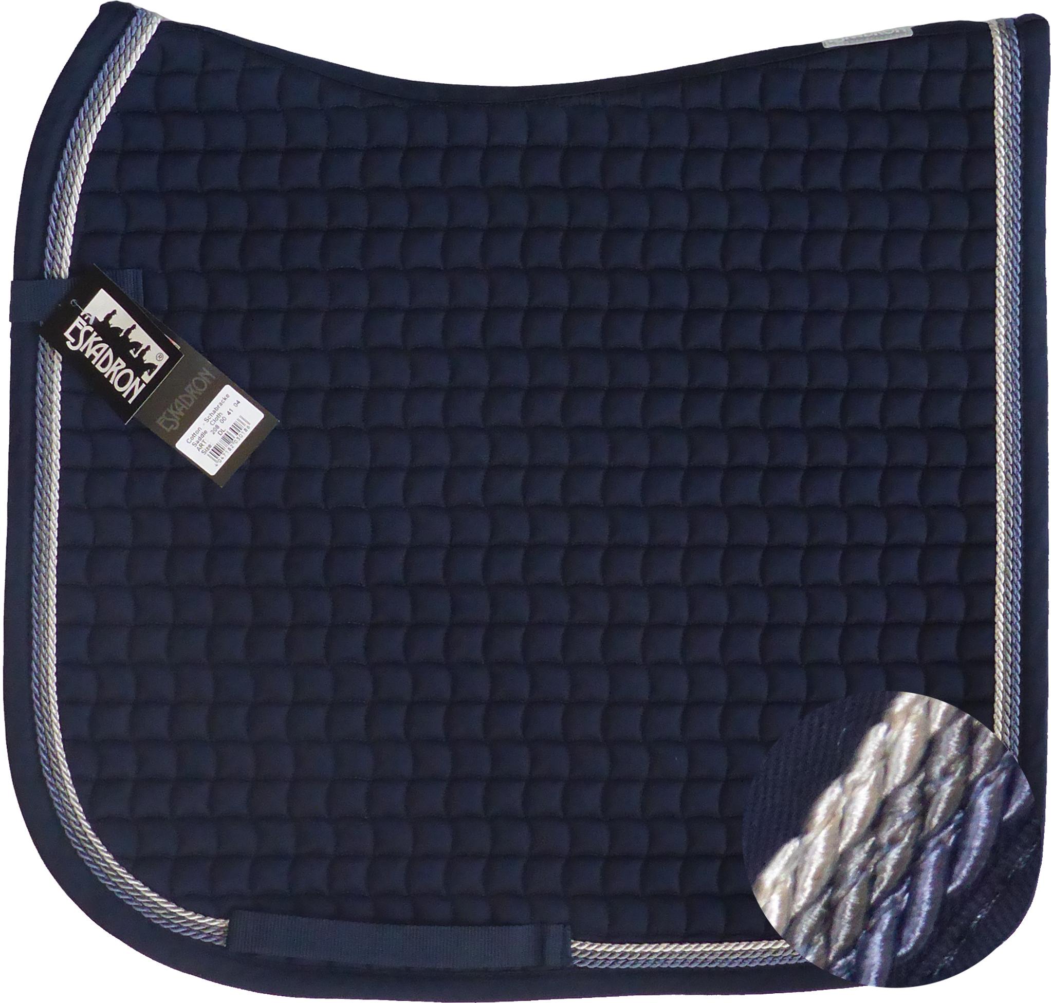 ESKADRON Cotton Schabracke navy, 3fach Kordel blue,anthrazit,silberfarben