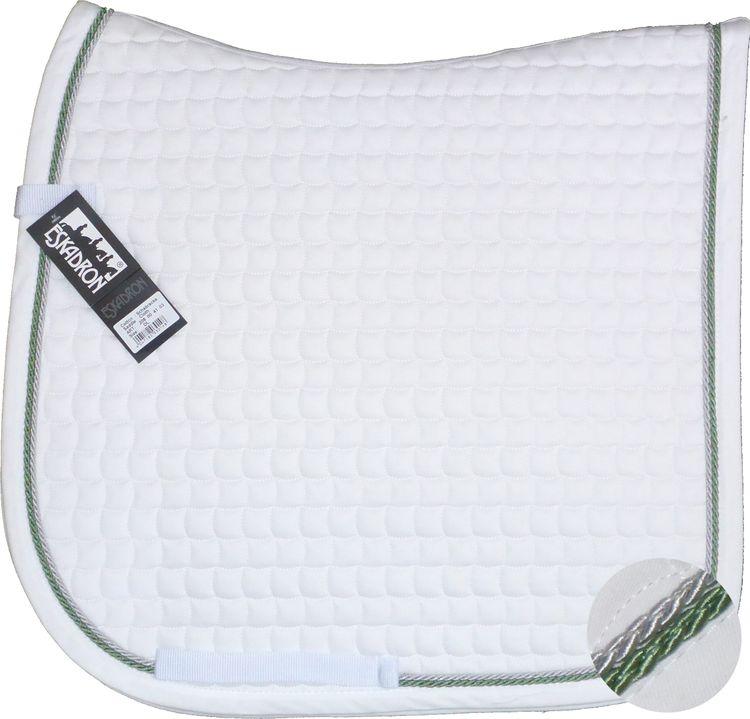 ESKADRON Cotton Schabracke white, 2fach Kordel lindgreen/silber