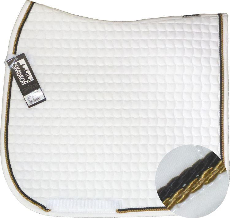 ESKADRON Cotton Schabracke white, 2fach Kordel goldfarben/black