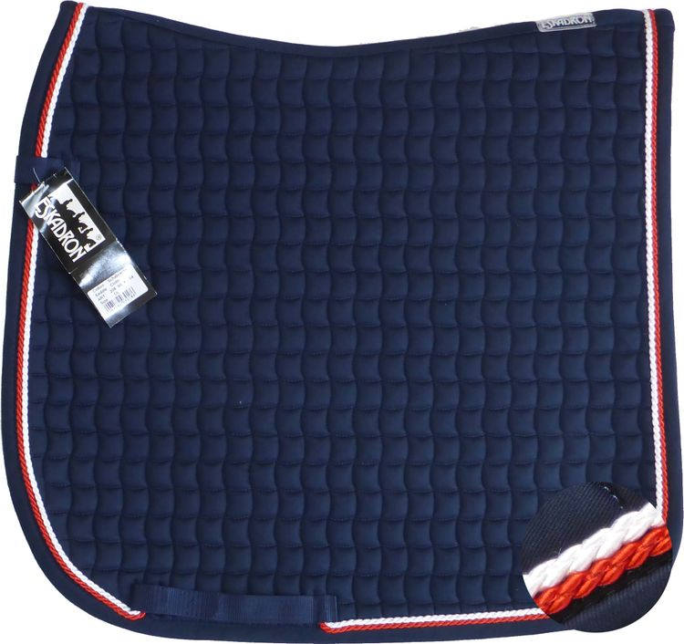 ESKADRON Cotton Schabracke navy, 2fach Kordel chilli red/white