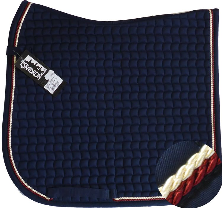 ESKADRON Cotton Schabracke navy, 2fach Kordel dark red/creme
