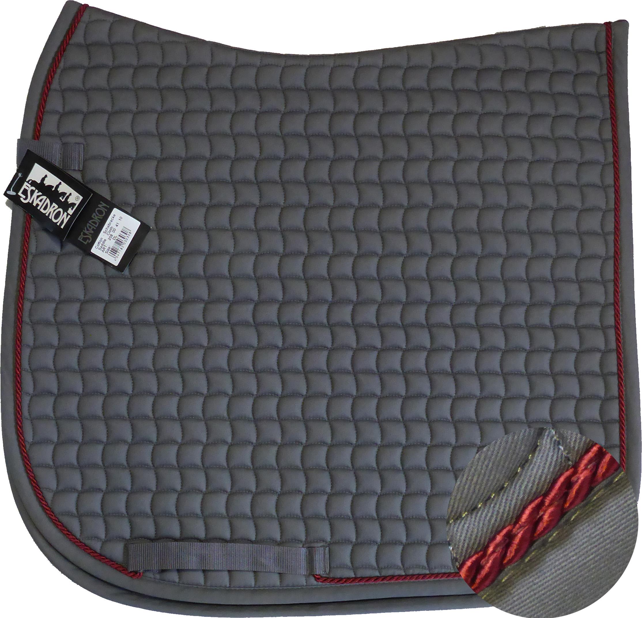 ESKADRON Cotton Schabracke grey, einer Kordel in dark red