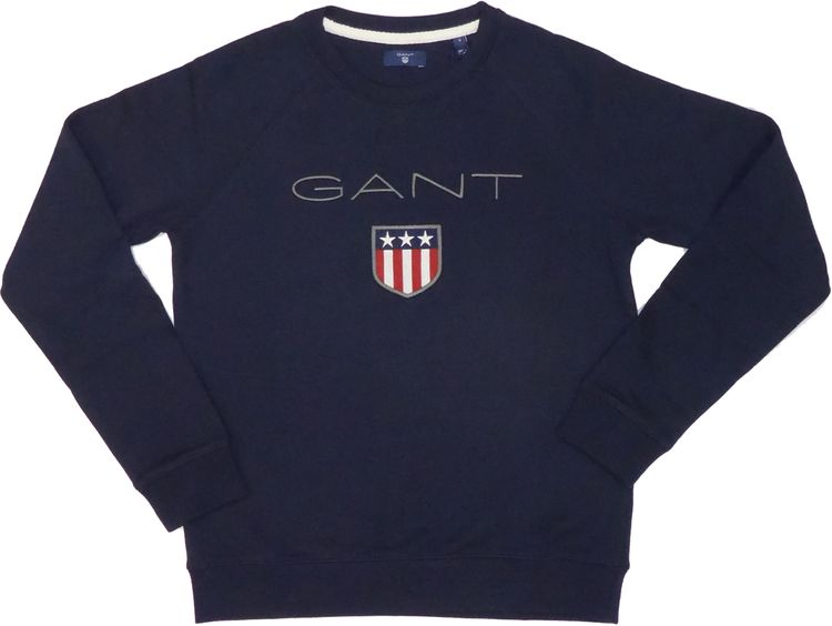 Gant - Damen Logo Sweatshirt in evening blue (navy) 4204612