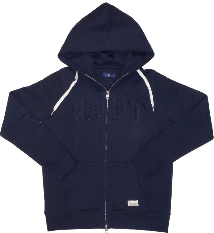 GANT Damen Zip Hoodie, Kapuzensweatjacke in evening blue (navy) 407612