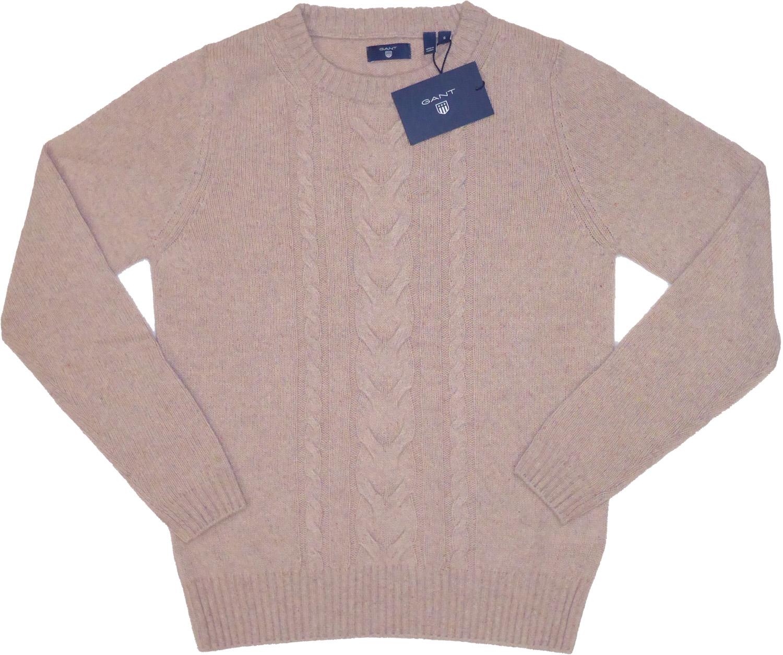 Gant - Alpaka Zopfmuster-Pullover in california pink 4802051