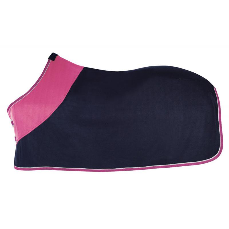 Pfiff Abschwitzdecke, Fleecedecke zweifarbig, blau-pink 100983