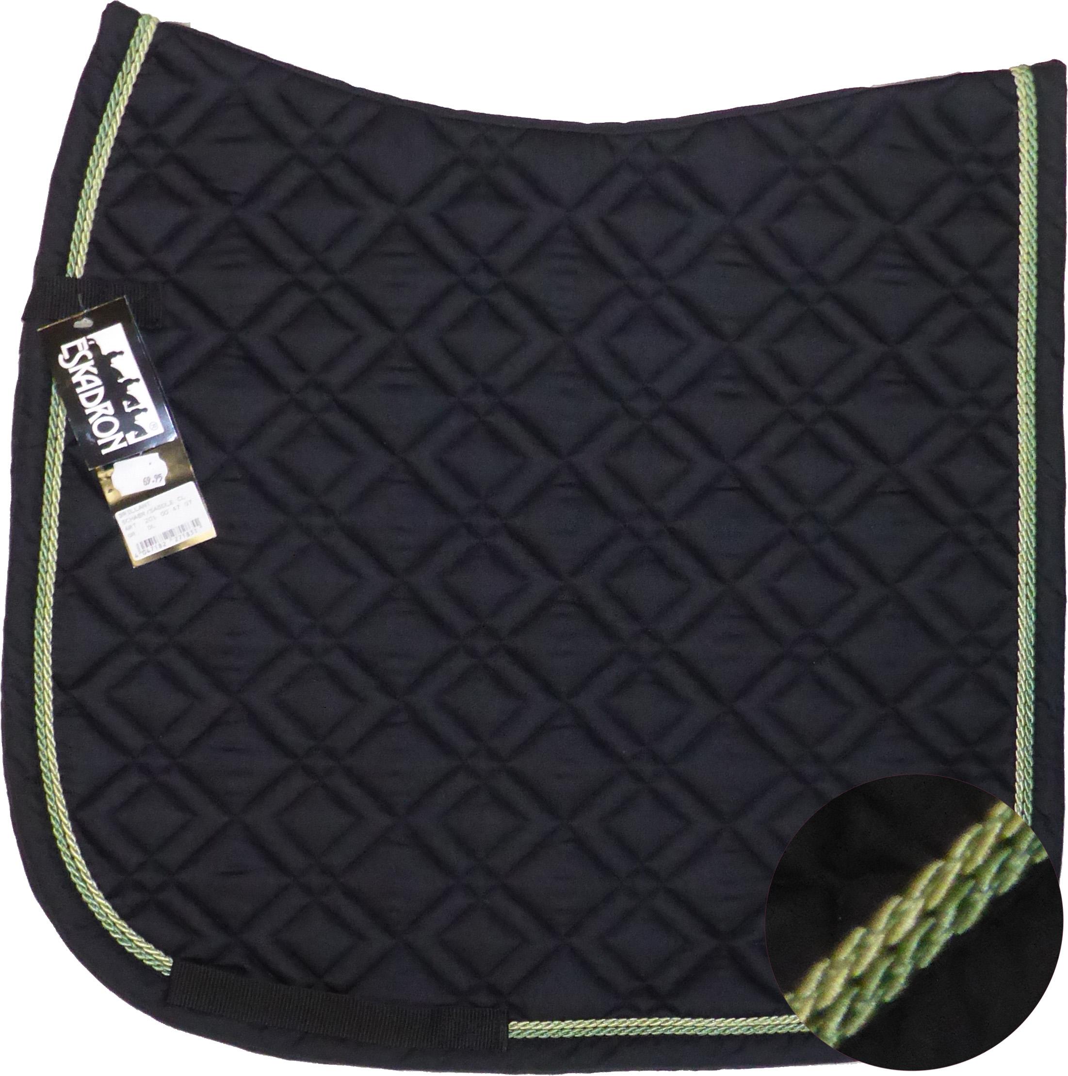 ESKADRON Brillant Schabracke black, 2fach Kordel lind/lightgreen