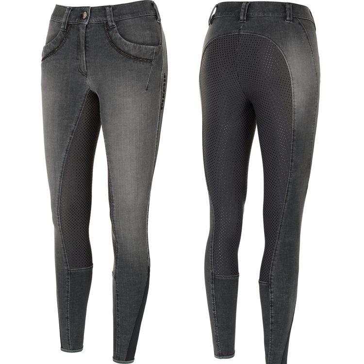 Pikeur Jeans Damen Reithose Elfa mit Grip in denim grey
