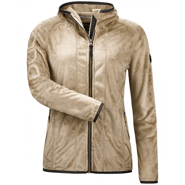 Cavallo Langhaar-Fleece-Jacke in sand HW 2017