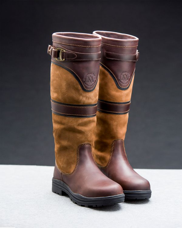 Mountain Horse Damen Lederstiefel Brown Devonshire