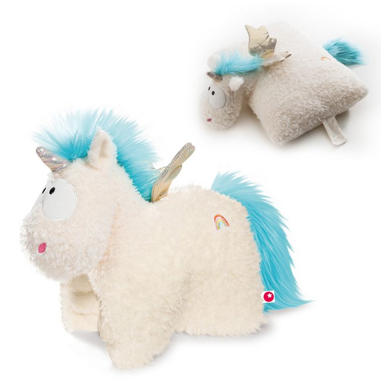 Nici Kuscheltier Kissen Theodor and Friends - Einhorn Rainbow Flair 40x30 cm