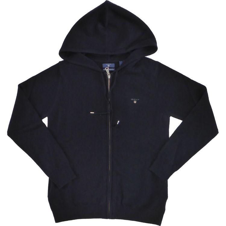 Gant - Lambswool-Zip-Strickjacke in marine 488418