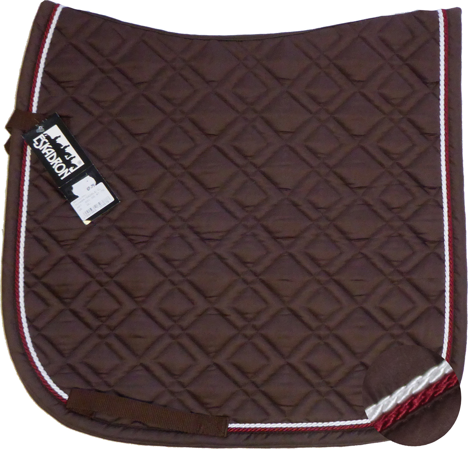 ESKADRON Brillant Schabracke choco, 2fach Kordel darkred/white
