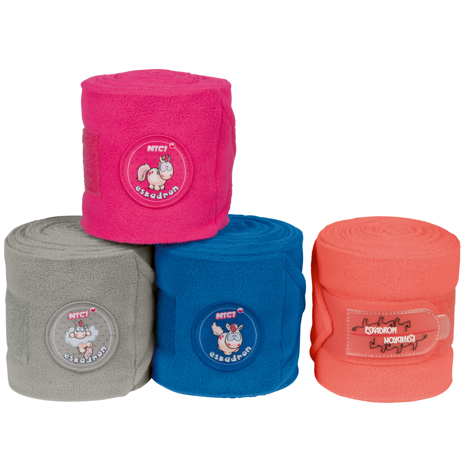 Eskadron Nici Fleecebandagen, Warmblut, peachy, blueberry, bubblepink, cloudgrey