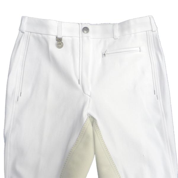 Pikeur Reithosen Lugana 2 in Weiß mit Kontrastnähten