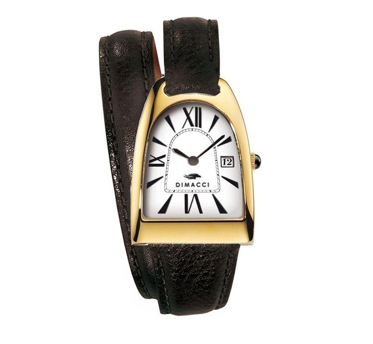 Dimacci Damen Armbanduhr Nicy Queen in schwarz Edelstahl