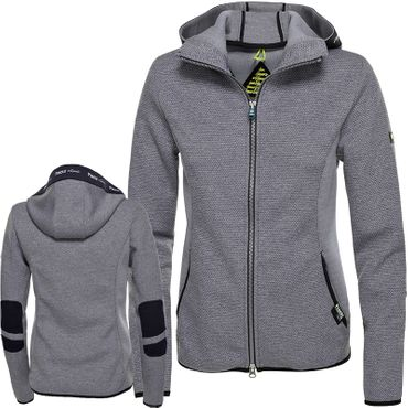 Pikeur Tech-Fleece-Jacke FRONI in light grey