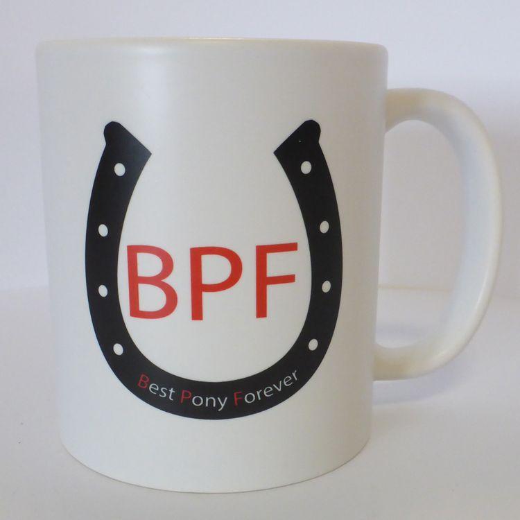 Tasse: BPF Best Pony Forever - Kaffeetasse mit Pferdemotiv