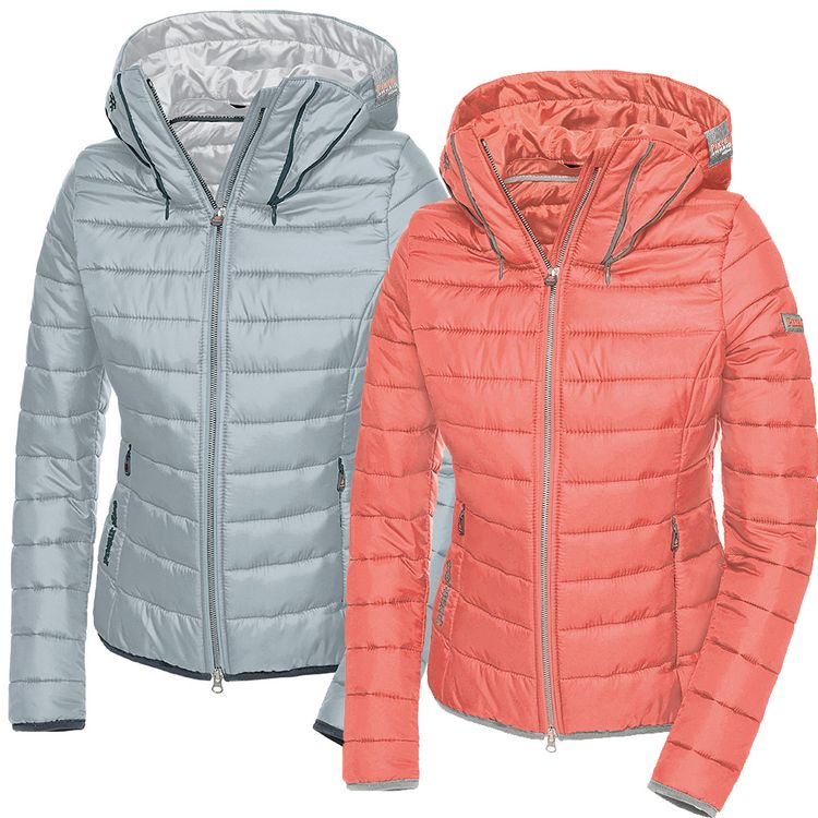 Pikeur sportliche Lightweight-Steppjacke Flori in peach & light grey
