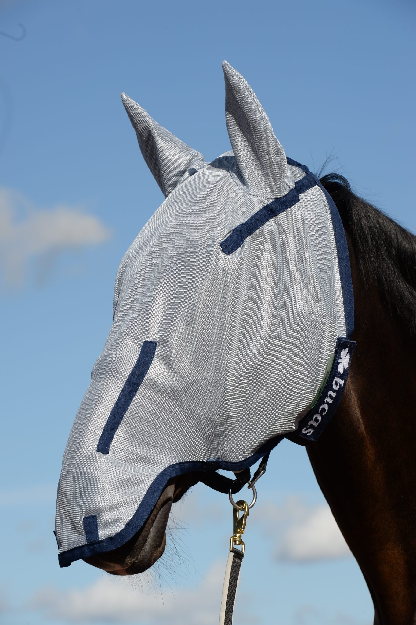 Buzz-Off Full Face Fly Mask in blue