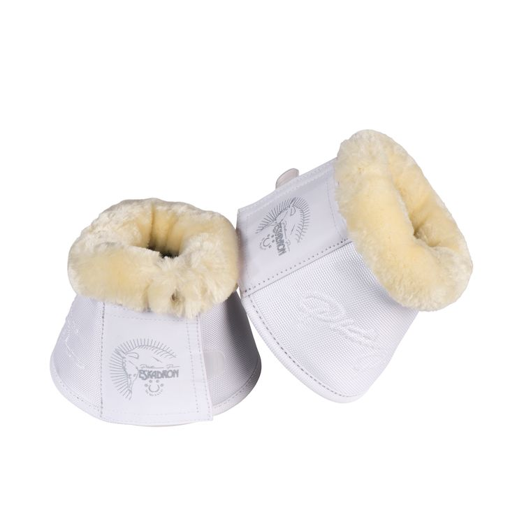 Eskadron Platinum PURE Hufglocken Fauxfur in white
