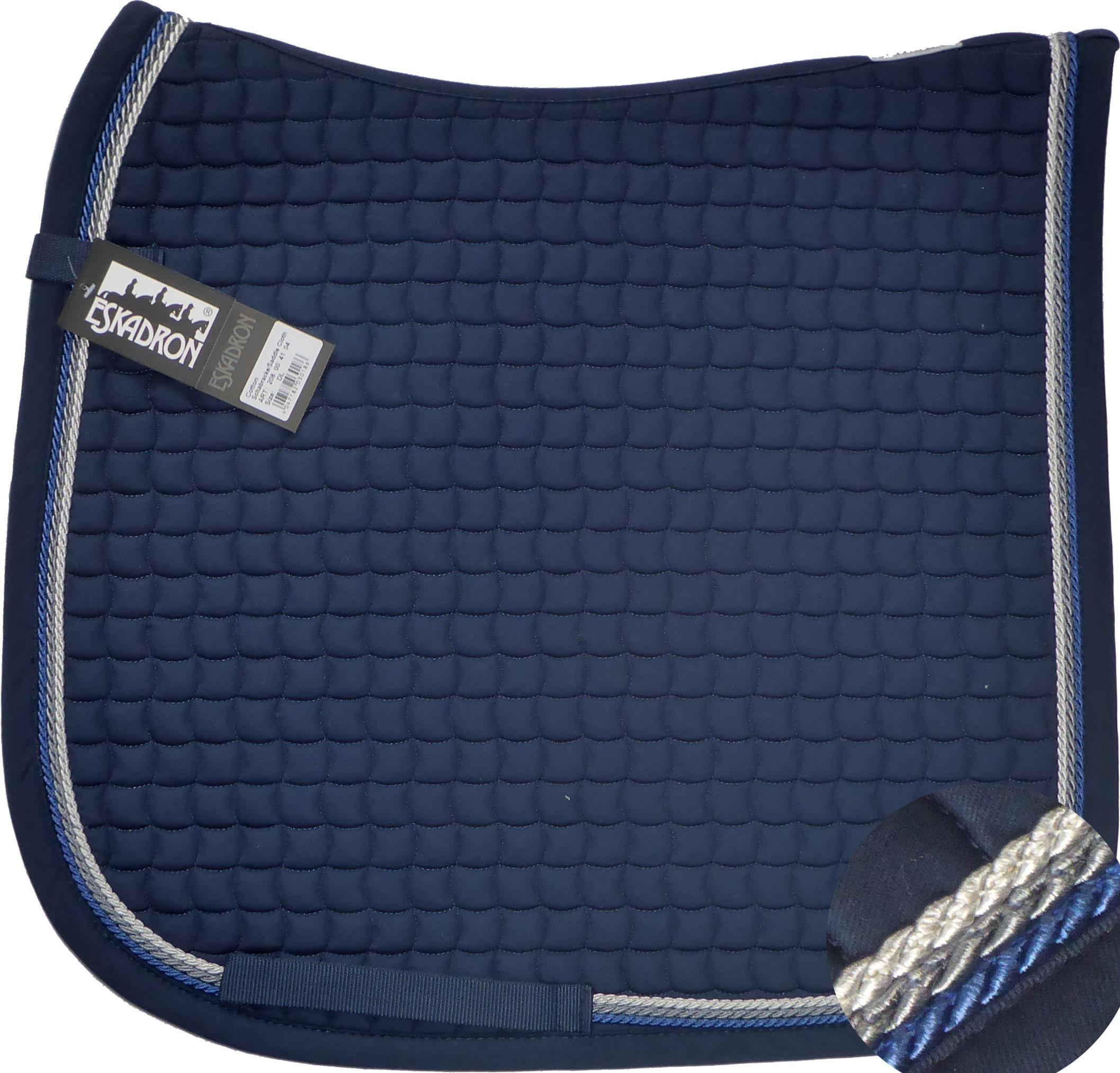 ESKADRON Cotton Schabracke navy, 3fach Kordel jeans,anthrazit,silberfarben