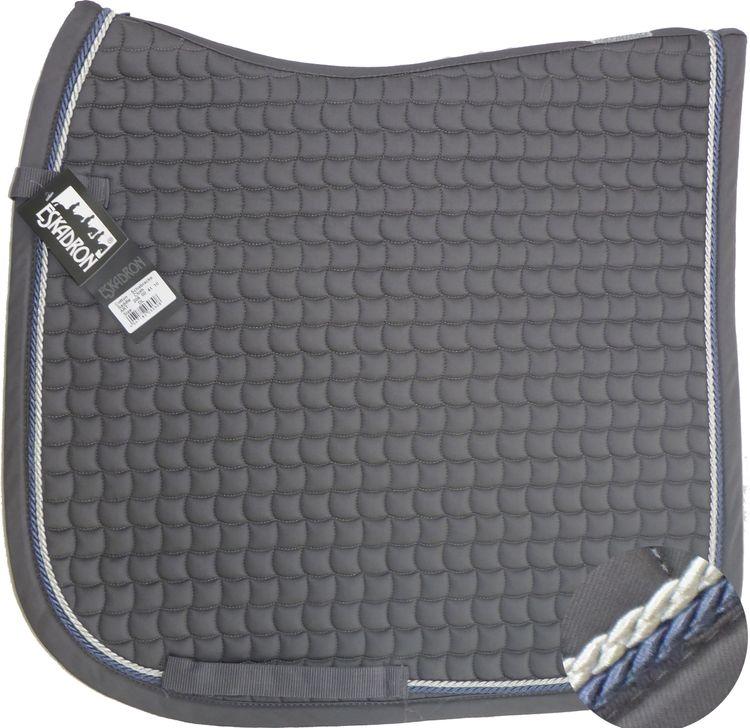 ESKADRON Cotton Schabracke grey, 2fach Kordel blue/silberfarben
