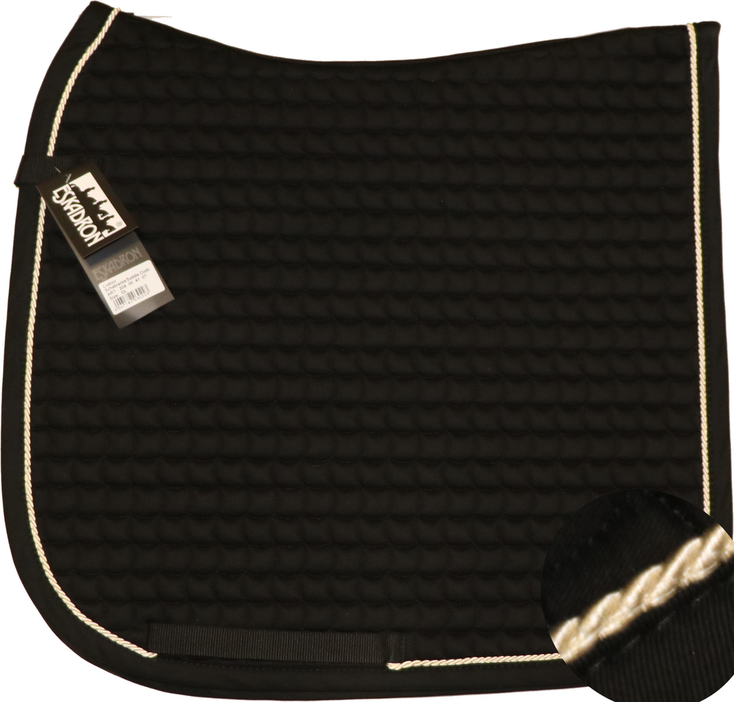 ESKADRON Cotton Schabracke black, einer Kordel in creme