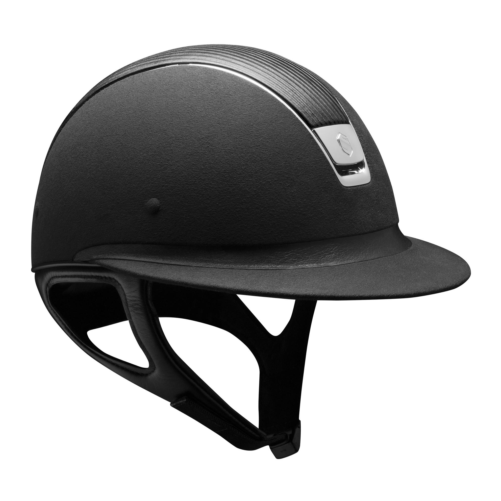 Samshield Helm Premium Alcantara Black-Chrom Schwarz
