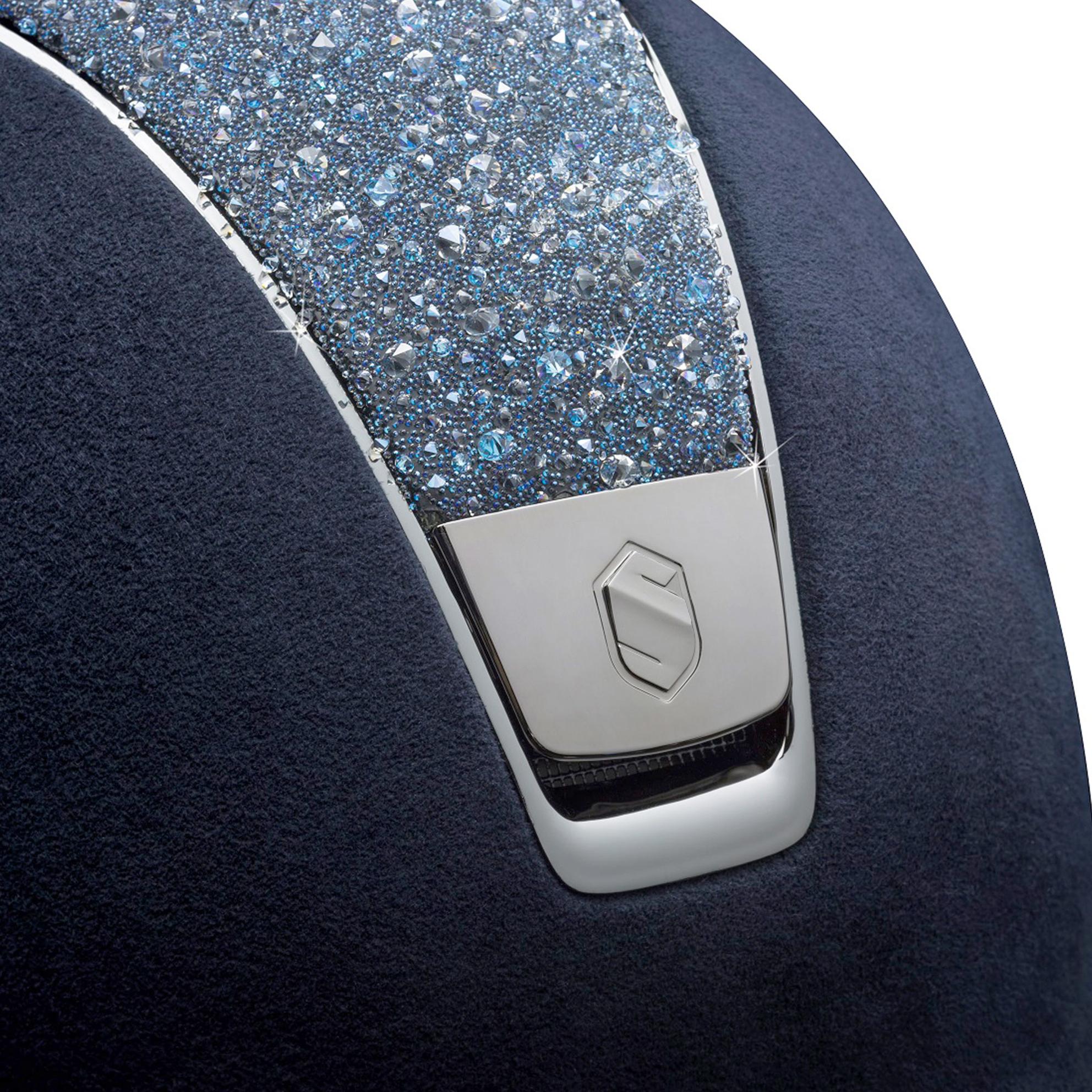 Samshield Helm Shadowmatt Alcantara Crystal Medley in Blau