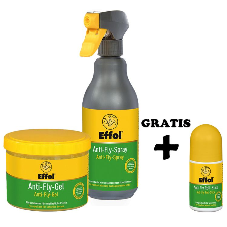 Effol SET Anti Fly Spray & Gel + GRATIS: Anti Fly Roll Stick