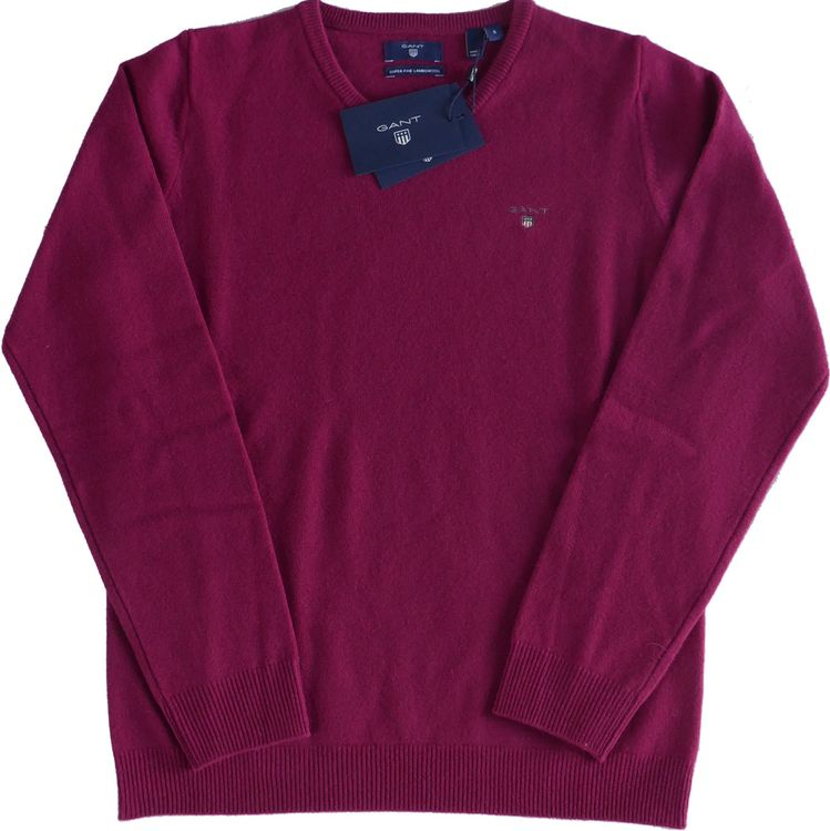 Gant Lambswool Pullover Rundhals in raspberry purple 488411