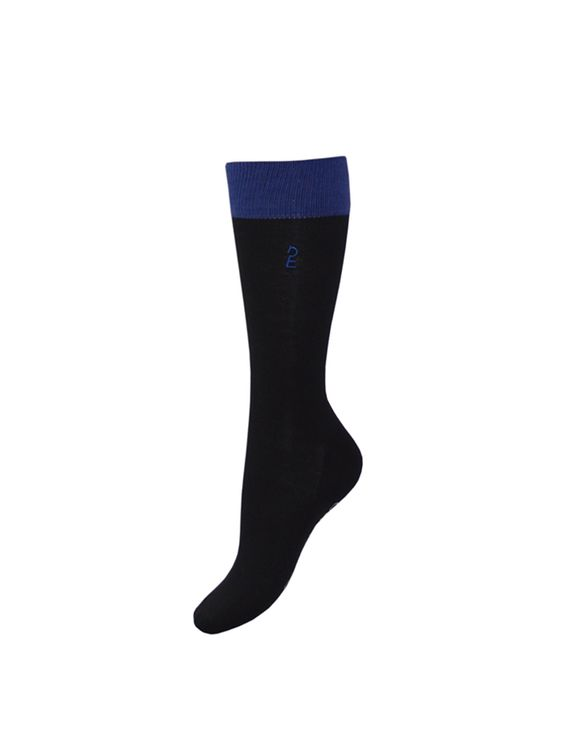 "Esperado Kneesocks ""Flap"" , Reiter-Socken, in schwarz/royal"