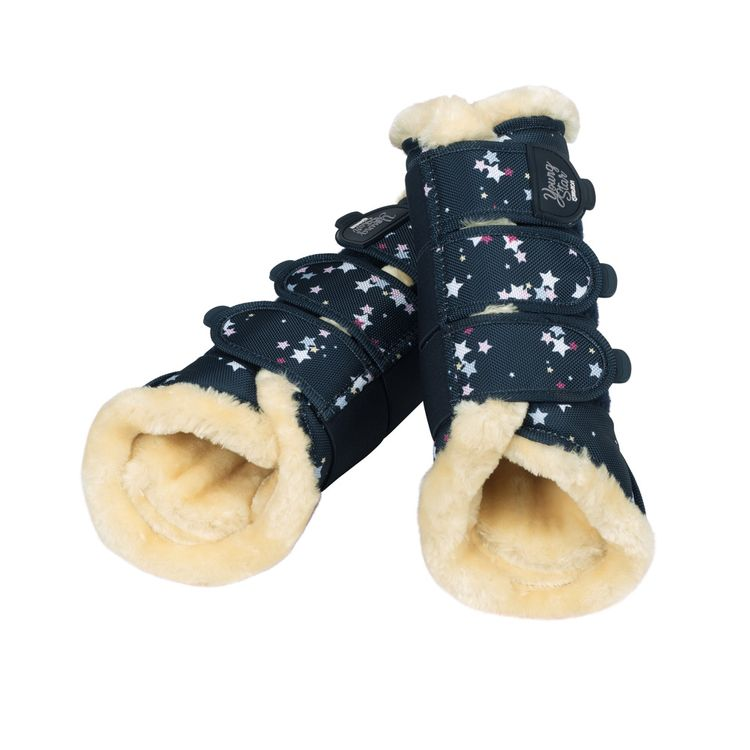 Eskadron Young Star Faux Fur Gamaschen in navy stars