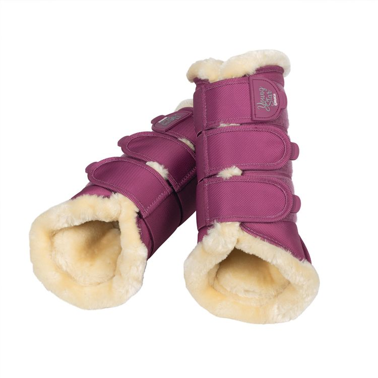 Eskadron Young Star Faux Fur Gamaschen in pink