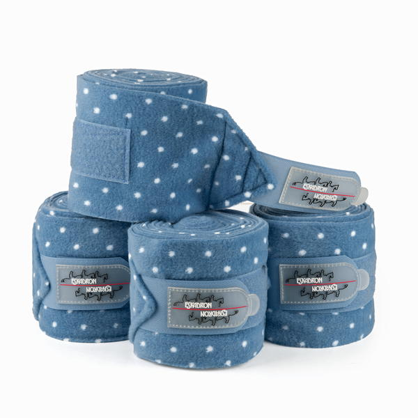 4er Set ESKADRON Fleecebandagen Dots Lollipop in blue